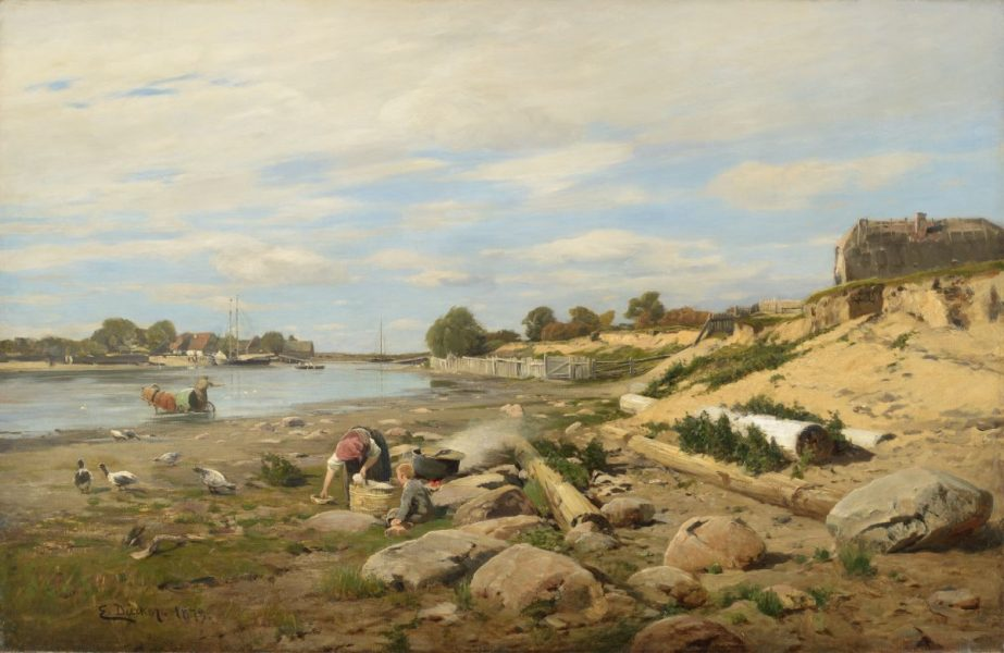 Eugen Dücker (1841–1916). Pärnu jõel. 1879. Õli