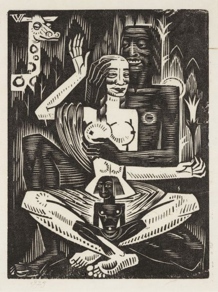 Eduard Wiiralt (1898–1954). Idamaine motiiv. 1925. Puulõige