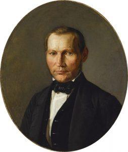 """Johann Köleri maali """"Mehe portree (Kunstniku vend)"""" sai EKM Läti Kunstimuuseumilt teoste vahetuse tulemusena."""
