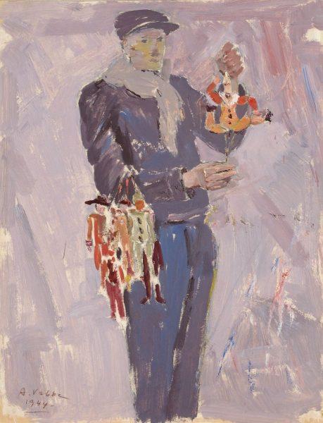 Ado Vabbe (1892–1961). Mees hampelmannidega (Nukumüüja). 1944. Eesti Kunstimuuseum.