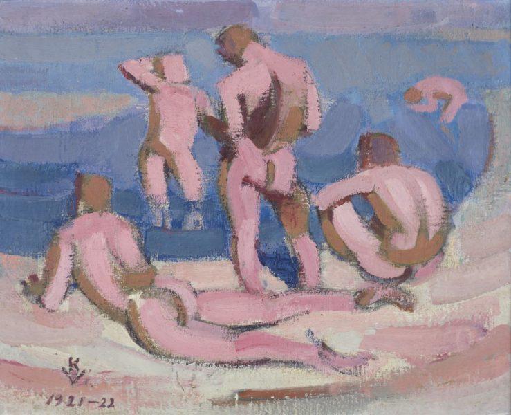 Kuno Veeber (1898–1929). Suplejad mehed.
