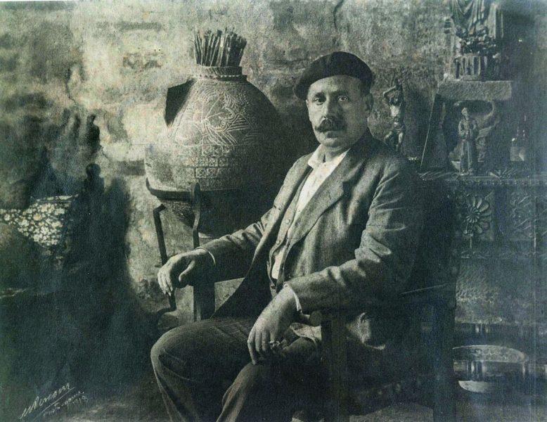 Ignacio Zuloaga oma ateljees Segovias